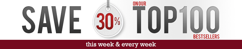 30% off Top 100 Bestsellers